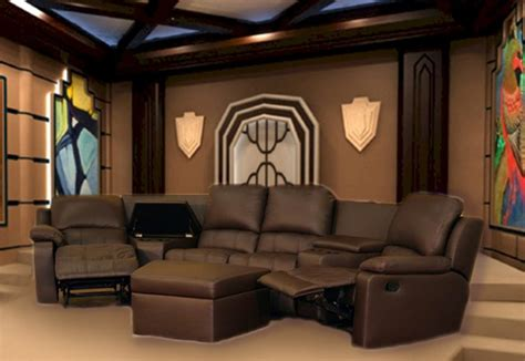 Non Reclining Theater Seats by Boden 7 Brown Leather Theater Seating Sectional By Theatre Delux 8802 Br