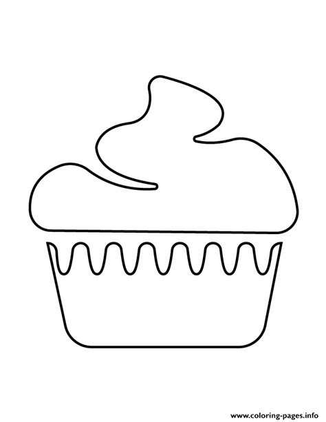 printable cupcake stencils cupcake stencil 6 coloring pages printable