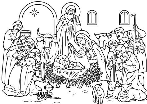 imagenes del nacimiento de jesus para pintar imagenes de navidad para colorear dibujos navide 241 os