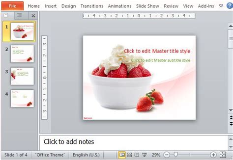 Restaurant Menu Maker Templates For Powerpoint Powerpoint Menu Template