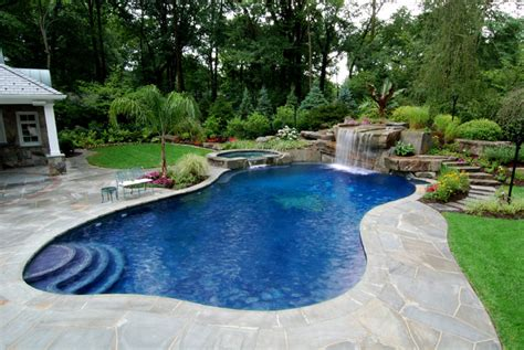 landscaping with pools country home design ideas
