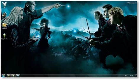 theme chrome harry potter harry potter deathly hallows windows 7 theme and wallpapers