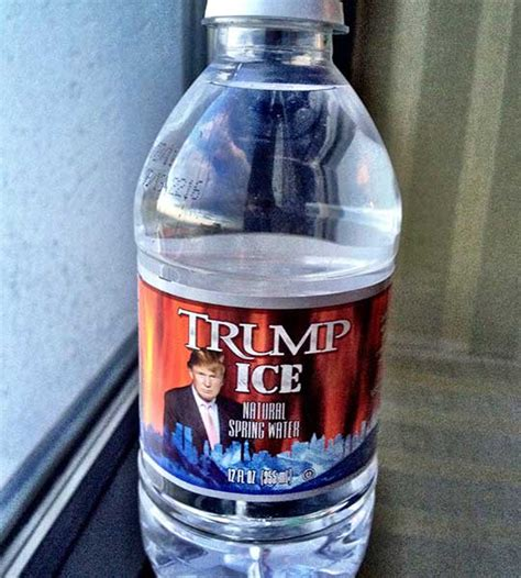 donald trump water bottle trump ice natural spring water bottled waters