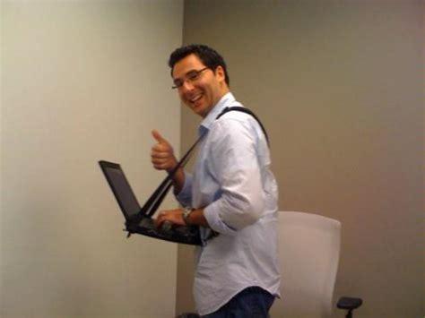 Walking Laptop Desk Connect A Desk Mobile Laptop Harness Desk Computers Accessories