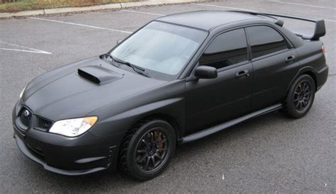 subaru wrx sedan full custom built motor matte blue matte black car wrap subaru wrx sti custom vehicle