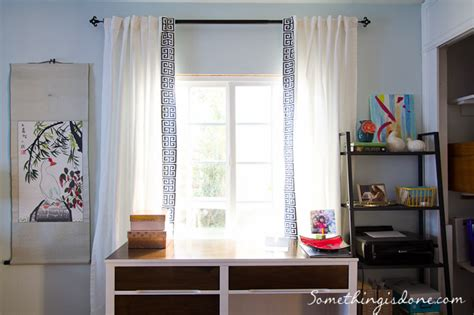 White Curtains With Blue Trim Decorating Description This Is A Blue And Ivory Trim Suitable For Many Home Decorating Applications