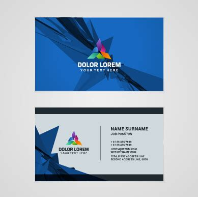 template company business cards set vector free vector in