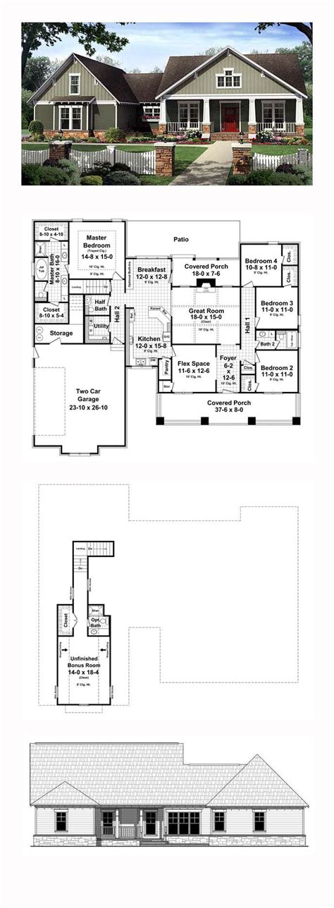 4 Bedroom Floor Plans With Bonus Room | 4 bedroom floor plans with bonus room inspirations