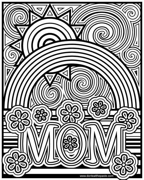 Coloring Pages For Adults Mom | don t eat the paste mom coloring page