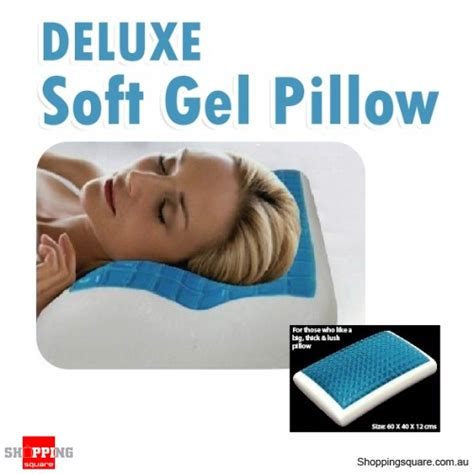 Soft Gel Pillow by Deluxe Soft Memory Foam Gel Pillow Shopping