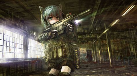wallpaper anime girl with gun anime girl with gun wallpaper anime and game art