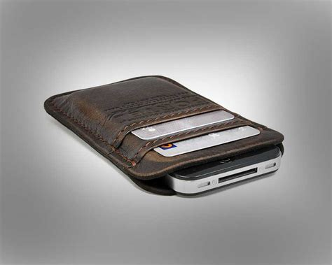 Handmade Leather Iphone Wallet - custom leather iphone wallet car interior design