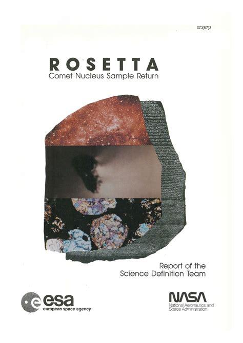 rosetta stone return mission rosetta