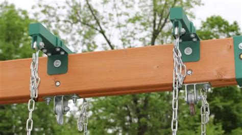 how to install swing set how to install brackets for horse glider swing youtube