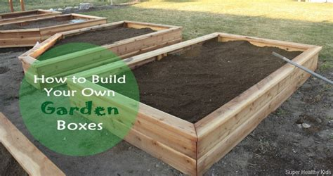 how to build a container garden box how to make your own garden boxes healthy ideas for
