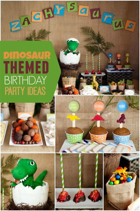 Stump Decorations A Boy S Dinosaur Party Spaceships And Laser Beams