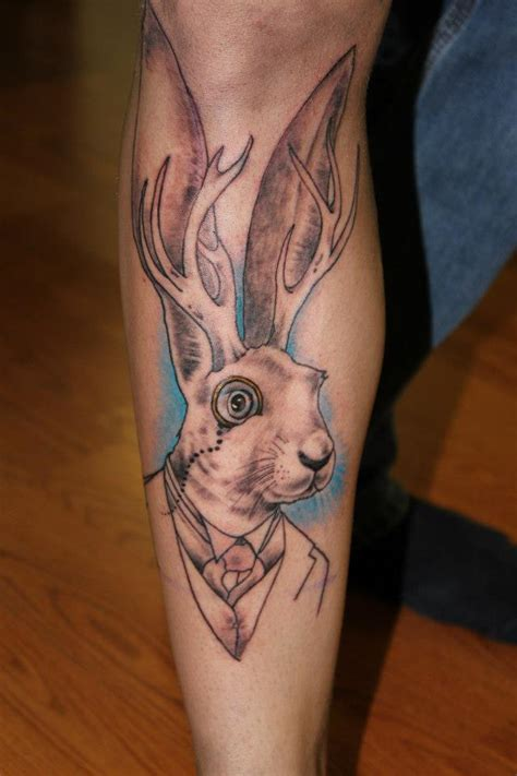jackalope tattoo sophisticated jackalope unfinished the ink