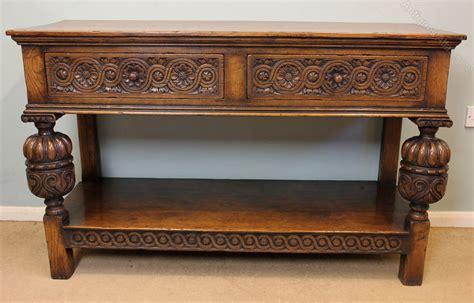 Antique Oak L Table Antique Oak Side Table Serving Table Antiques Atlas