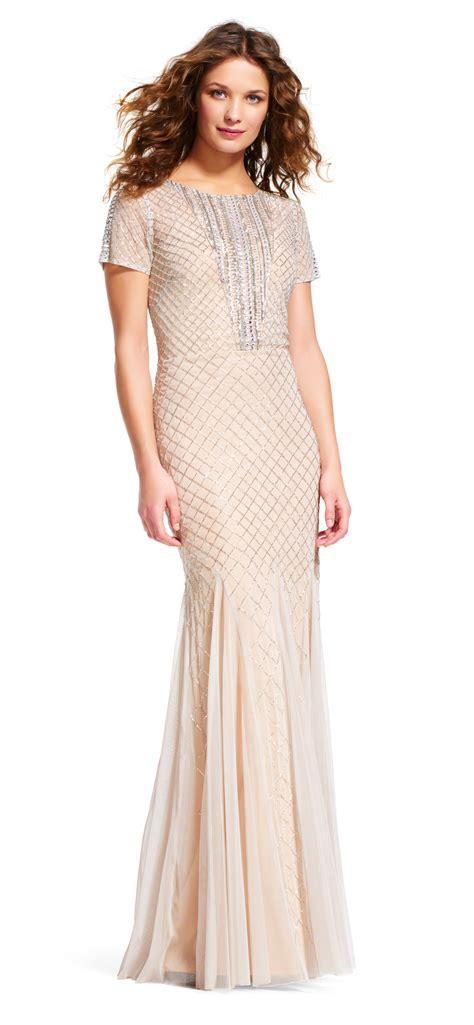beaded mermaid dress sleeve mermaid dress with beaded neckline