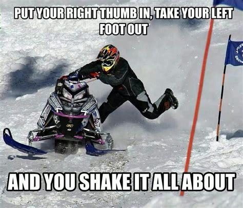 Snowmobile Memes - snowmobile hokey pokey snowmobiling pinterest snow