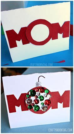 Christmas Gift Cards For Kids - homemade christmas card for mom great activity for kids to do the quot o quot is supposed