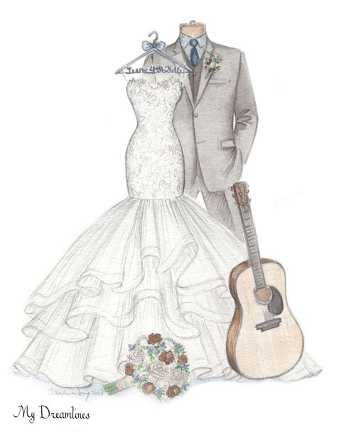 Wedding Sketch by Wedding Anniversary Gift Ideas Wedding Dress Sketches