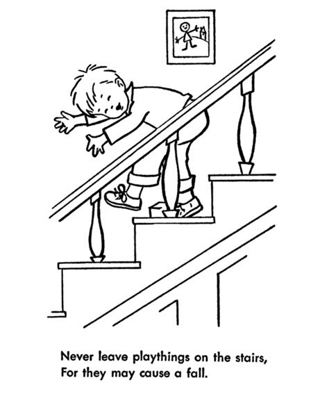 child safety coloring pages safety lessons