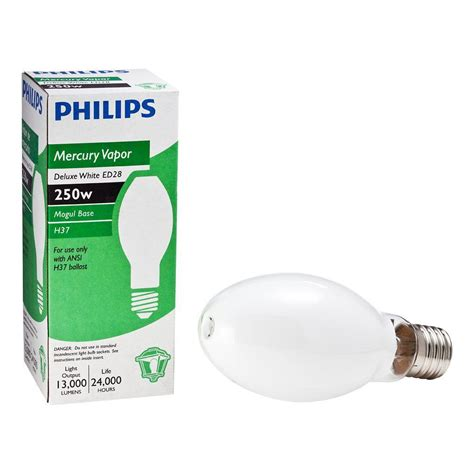 High Intensity Discharge Philips 250 Watt Ed28 Mercury Vapor Deluxe High Intensity