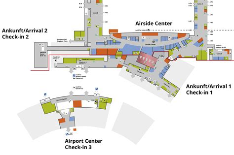 zurich airport floor plan site plans flughafen z 252 rich