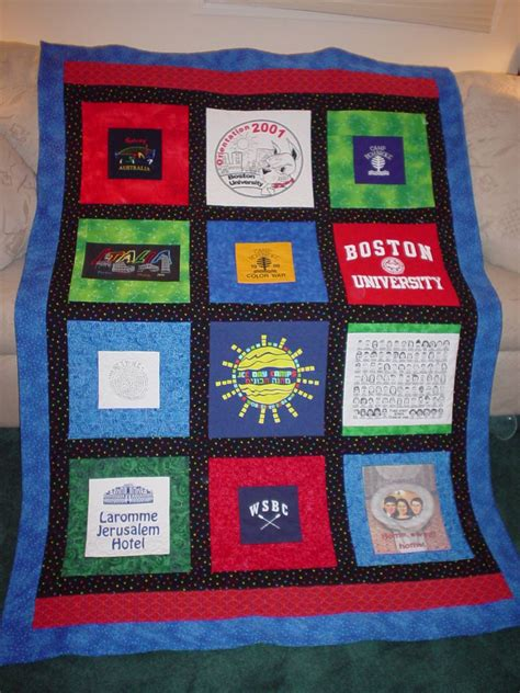 T Shirts To Quilts by T Shirt Quilt Design