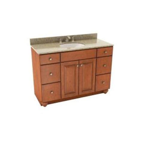 Silestone Bathroom Vanity Tops American Woodmark Charlottesville 49 In Vanity In Cognac