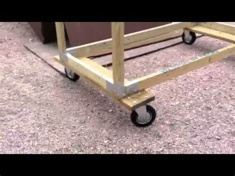truck bed dolly built a dolly for the truck bed youtube