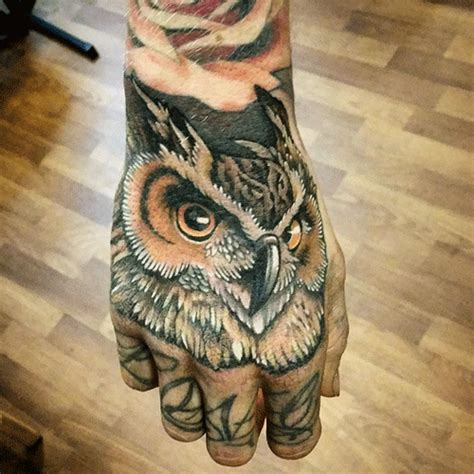 owl hand tattoo owl search tattoos