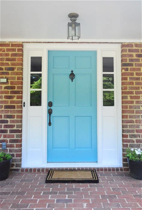 blue house with door how to a color and paint your front door