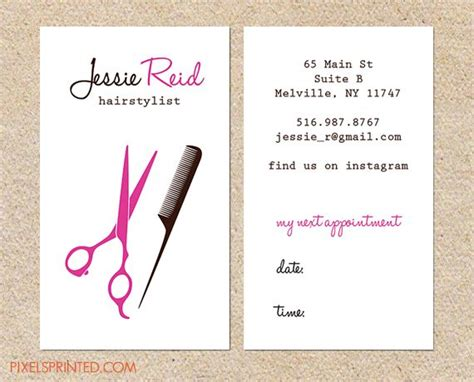 business cards templates for hairstylist hairdresser business cards best 25 hairstylist business