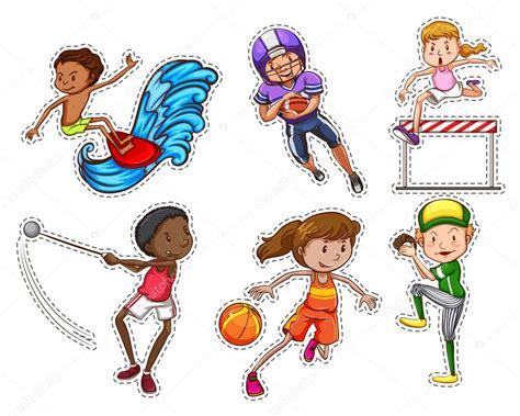 imagenes tipo vector personas haciendo diferentes tipos de deportes vector de