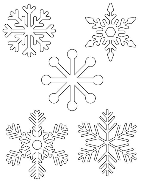 printable snowflake patterns to color free printable snowflake templates large small stencil