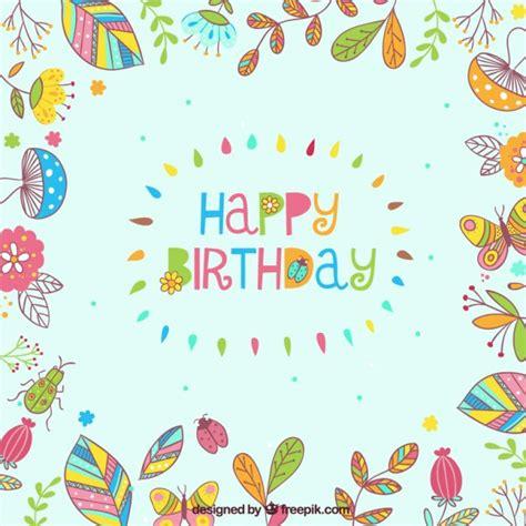 descargar imagenes de happy birthday gratis feliz cumplea 241 os marco floral descargar vectores gratis