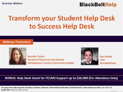 Iseminar Transform Your Student Help Desk To Success Help Student Help Desk