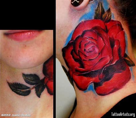 rose tattoo on neck girl 51 best rose neck tattoos