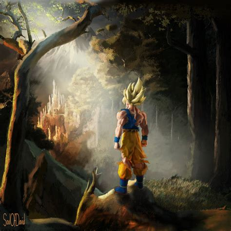 painting goku the legacy by soulofdavid on deviantart