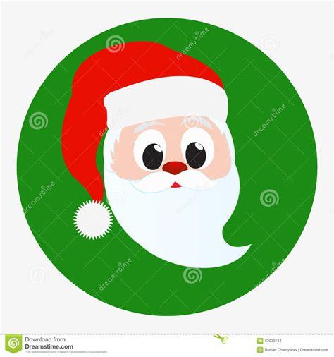 imagenes de santa claus verde santa claus happy face portrait icon isolated on green