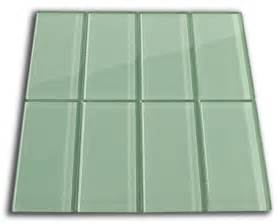 sage green glass subway tile 3x6 for backsplashes showers more sample