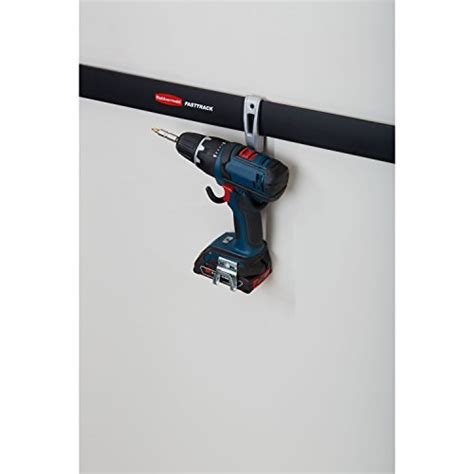 rubbermaid fasttrack garage storage system compact hanging