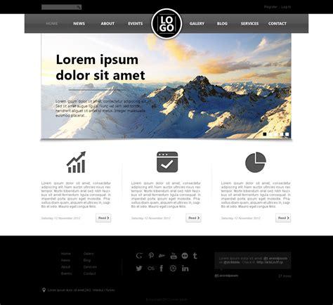 psd web design templates inspirationfeed