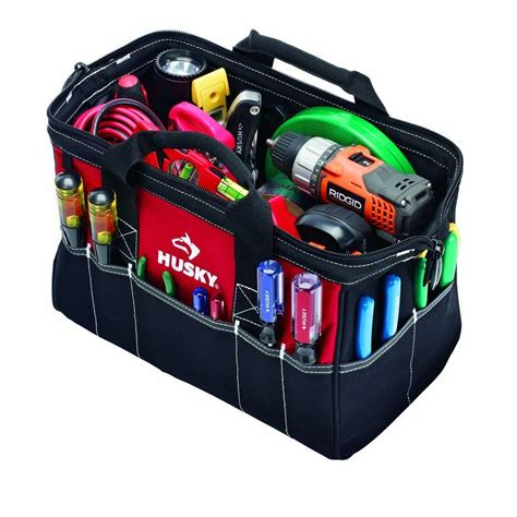 Home Depot Tool Bags by Husky 15 In Tool Bag Gp 43682n13 The Home Depot