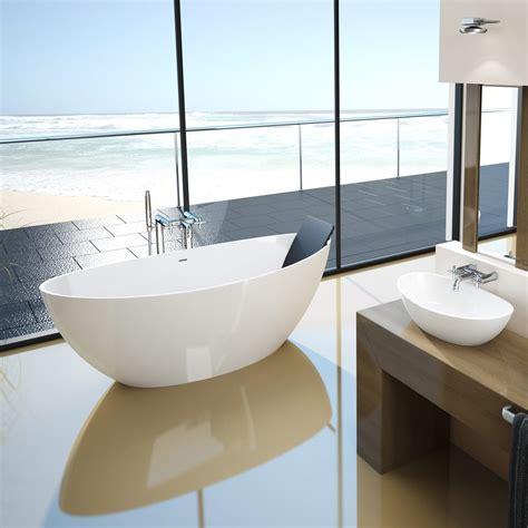 moderne freistehende badewannen hoesch namur oval badewanne 190 x 90 cm freistehend 4403