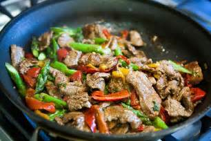 Stair Fry by Flank Steak Stir Fry With Asparagus And Red Pepper Recipe