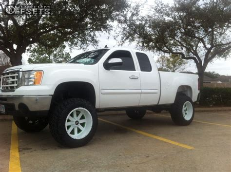 lifted white gmc 2010 gmc sierra 1500 moto metal mo962 lifted 9in