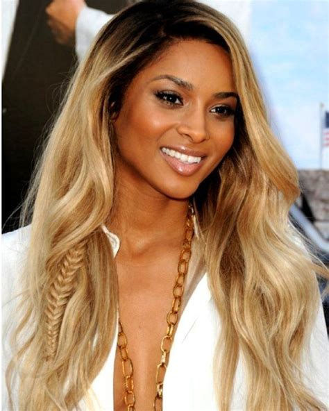new blonde hair colors with some darker roots with lighter ciara two tone dip dye dark roots blonde lace front wig